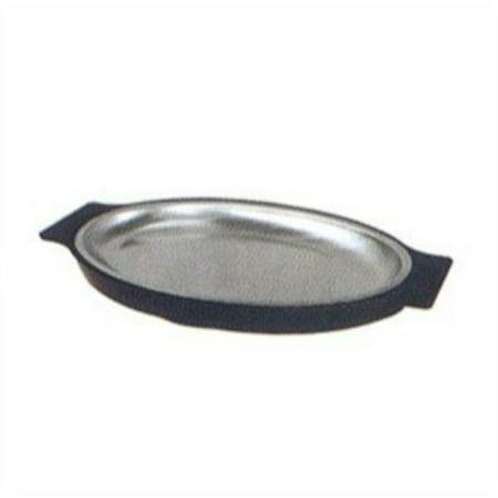 (Winco SIZ-11B Stainless Steel Rectangular Sizzling Platter, 11-Inch)