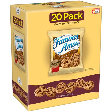 (2 Pack) Famous Amos Chocolate Chip Cookies Caddie Pack 24 oz 20