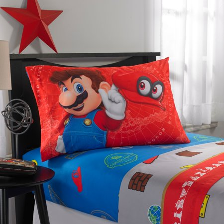 Maria Sheet Set - Nintendo Super Mario 'Odyssey Fun' Kids Bedding Sheet Set, Twin