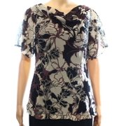 Classiques Entier NEW Black Floral Women's Size Small S Silk Blouse
