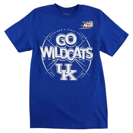 Adidas Mens Kentucky Wildcats 2015 Final Four NCAA T Shirt Royal (Adidas Ncaa Long Sleeve Shirt)
