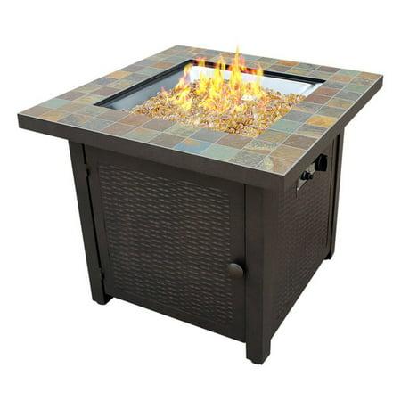 AZ Patio Heaters Square Slate Fire Pit - Walmart.com