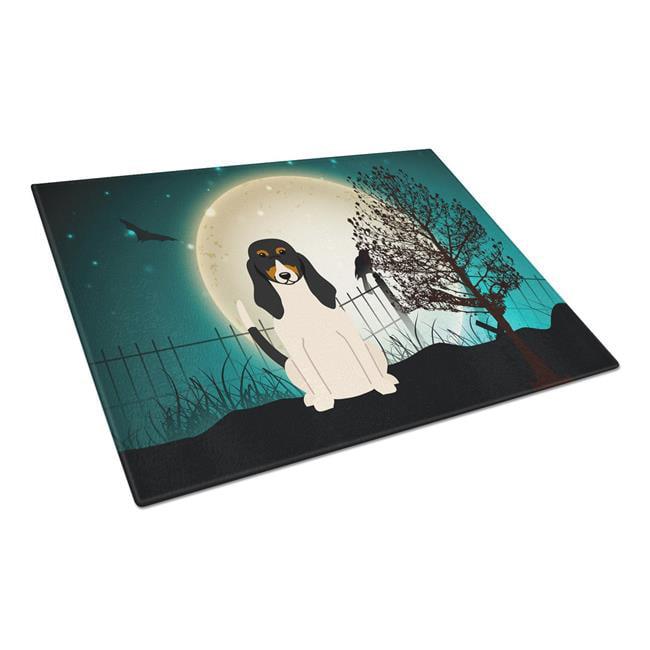 Carolines Treasures BB2234LCB Halloween Scary Swiss Hound Glass Cutting Board, Large - image 1 of 1