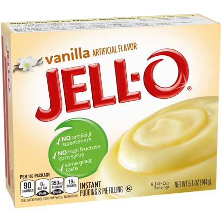 (5 Pack) Jell-O Instant Vanilla Pudding & Pie Filling, 5.1 oz Box