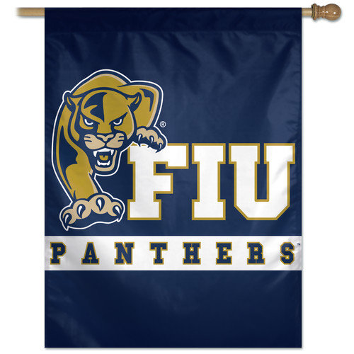 Florida International University Vertical Outdoor House Flag