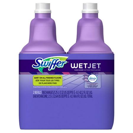 Swiffer Wetjet Multi Purpose Cleaner Refill  Lavender Vanilla And Comfort  42 2 Oz   Pack Of 2