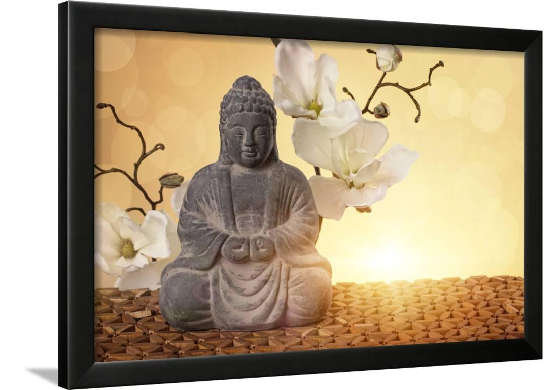 Buddha in Meditation, Religious Concept Framed Photographic Print ...