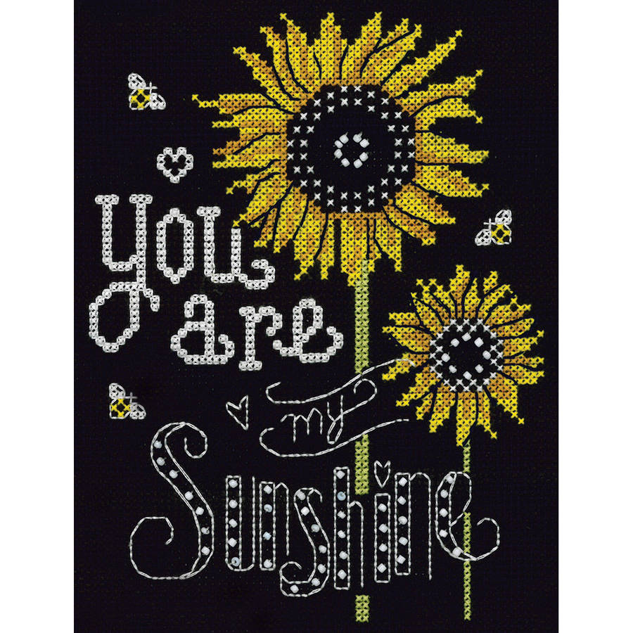 "You Are My Sunshine Counted Cross Stitch Kit, 8"" x 10"", 14-Count"