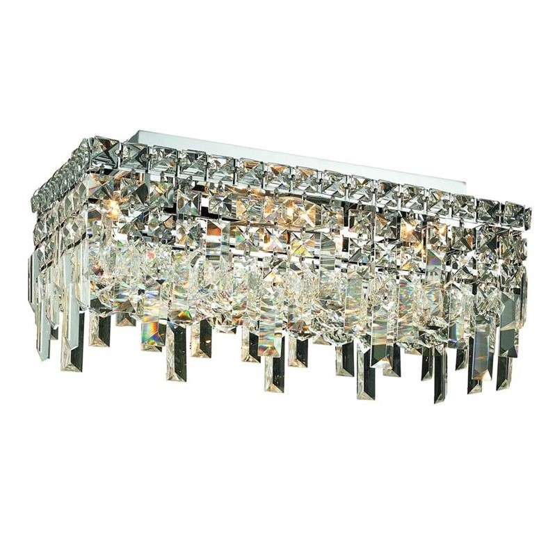 "Elegant Lighting Maxime 8"" 4 Light Elements Crystal Flush Mount"