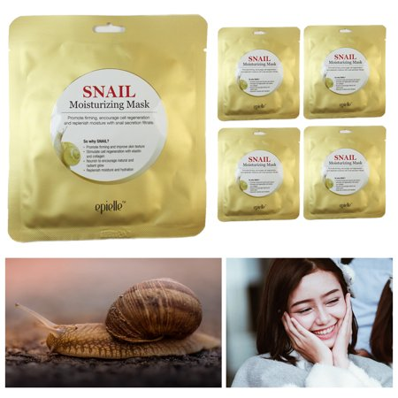 5 Pack Snail Masks Hydrating Essence Face Mask Sheet Cosmetic Facial Skin