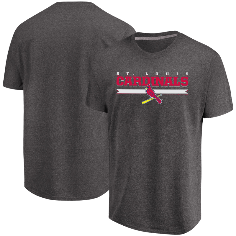Men's Majestic Heathered Charcoal St. Louis Cardinals All Pride T-Shirt
