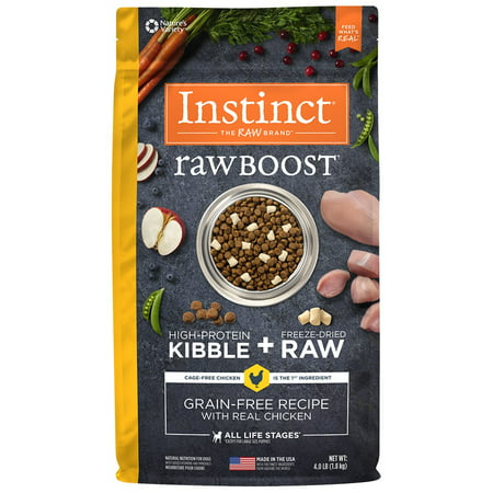 Instinct Raw Boost Grain-Free Recipe with Real Chicken Natural Dry Dog Food by Nature's Variety, 4 lb. Bag