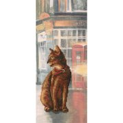 "RTO Counted Cross Stitch Kit 4.5""X10.75""-Cats In Town I (14 Count)"