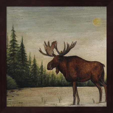 - North Woods Moose II by David Carter Brown, Framed Wall Art, 13.25W x 13.25H