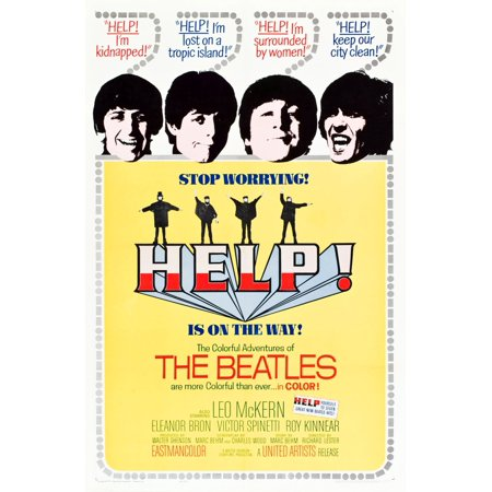 Help British Poster The Beatles Ringo Starr Paul Mccartney John Lennon George Harrison 1965 Poster Art Movie Poster