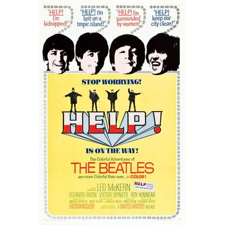 Help British Poster The Beatles Ringo Starr Paul Mccartney John Lennon George Harrison 1965 Art Movie Masterprint