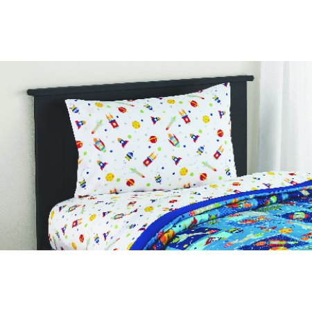 Mainstays Kids Planets Coordinating Printed Sheet Set (Kids Full Sheet Set)
