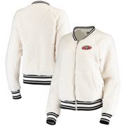 San Francisco 49ers New Era Women's Athletic Sherpa Full-Zip Jacket - Cream