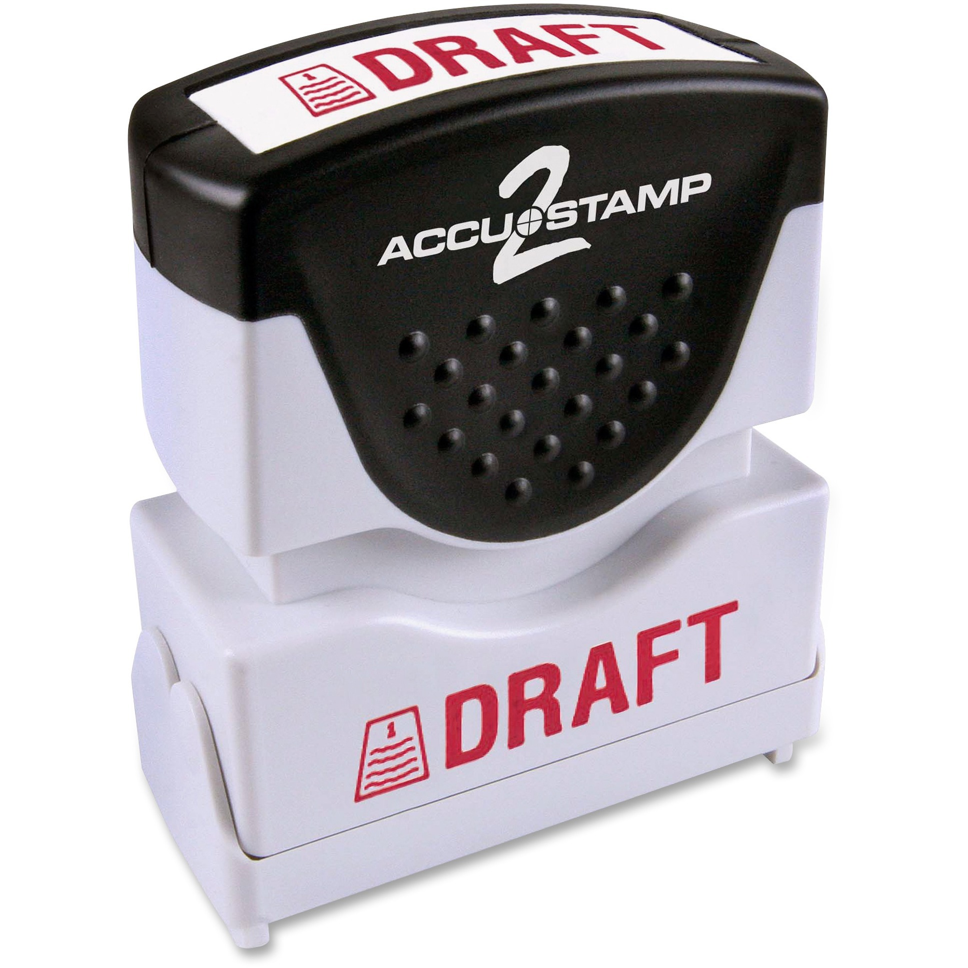 COSCO, COS035585, 1-Color Red Shutter Stamp with Microban, 1 Each