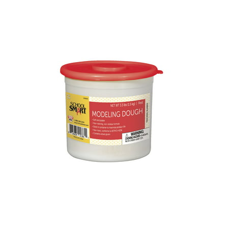 School Smart Non-Toxic Modeling Dough, 3.3 lb Tub, Red for $<!---->