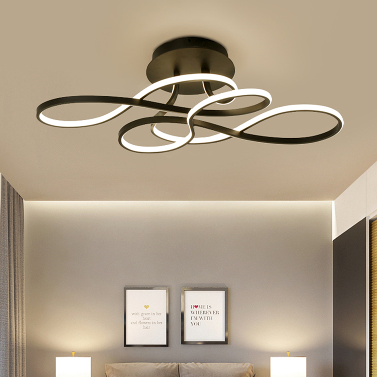 Meigar 110v Led Modern Acrylic Chandelier Living Room Ceiling Light Pendant Lamp Fixtur Walmart Canada