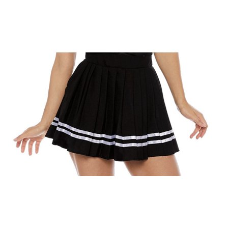 Black Cheer Womens Adult Sporty Cheerleader Costume - Sporty Spice Halloween