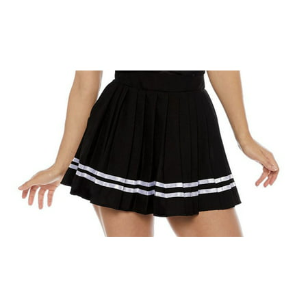Black Cheer Womens Adult Sporty Cheerleader Costume Skirt (Sporty Spice Costume)
