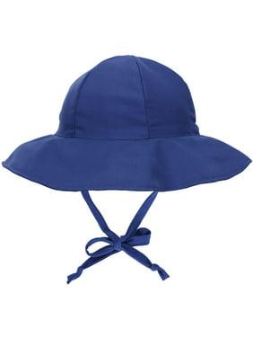 UPF 50+ UV Ray Sun Protection Wide Brim Baby Sun Hat,Navy,0-12 Months