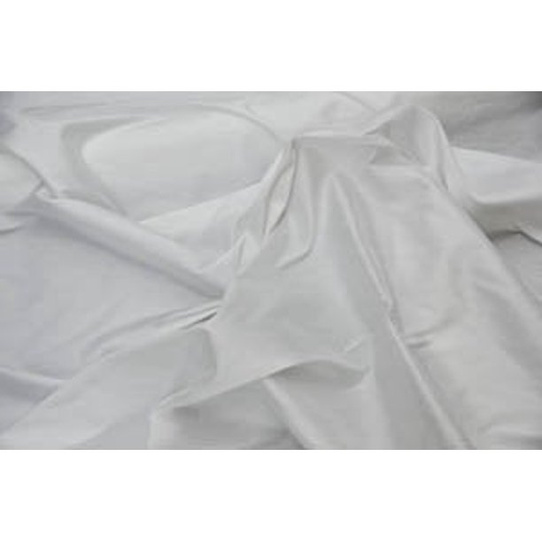 White Faux Silk D Panels