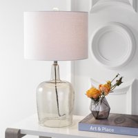 """Augustine 26"""" Glass LED Table Lamp, Smoked Gray"""