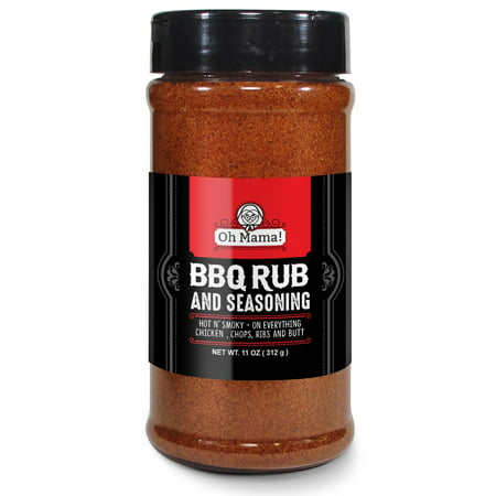 Oh Mama! BBQ All American Seasoning Mix, Dry Rub Perfect for Hogs, Chicken, Pork Chops Steaks, Ribs, Brisket, Butt, Fish & More - Best Barbecue Butt Rub , Gluten Free, Preservative Free No MSG, XL