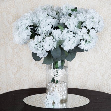 balsacircle 28 silk hydrangea flowers for wedding party centerpieces. Black Bedroom Furniture Sets. Home Design Ideas