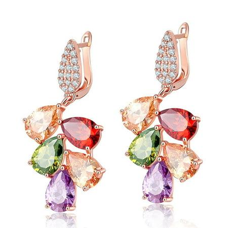 BellaNicole Womens Genuine Austrian Crystal Chandelier Dangle Earrings