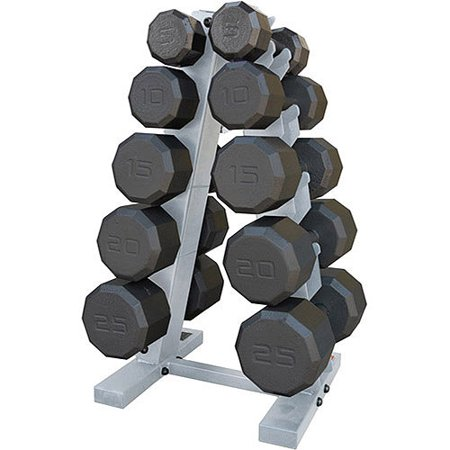 Cap Barbell 150 Pound Eco Dumbbell Weight Set With Rack