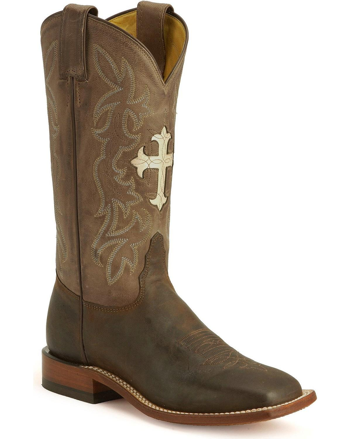 Tony Lama Women's Cross Inlay Cowgirl Boot Tc1002l by Tony Lama