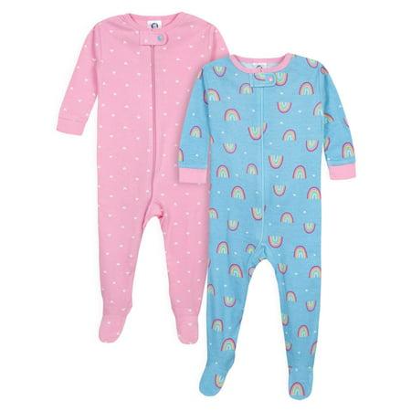 Bunny Pajamas For Kids (Gerber Footed Tight-fit Unionsuit Pajamas, 2pk (Baby)