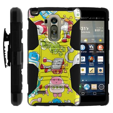 TurtleArmor ®  For LG G Stylo LS770, H631, MS631  LG G4 Stylus  LG Stylus [Hyper Shock] Hybrid Dual Layer Armor Holster Belt Clip Case Kickstand - Gizmo Robots