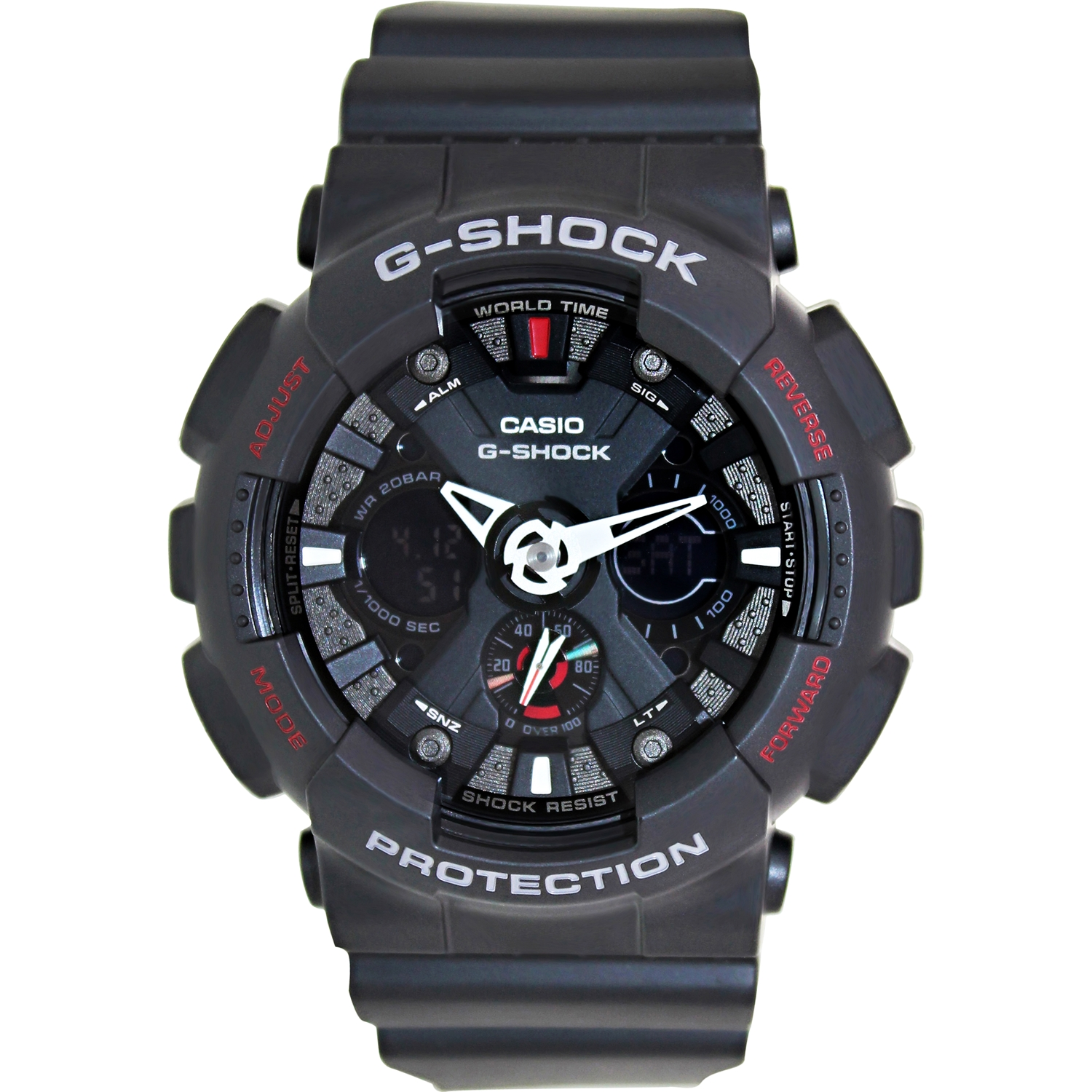 Casio Men's G-Shock GA120-1A Black Resin Quartz Fashion Watch