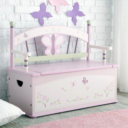 Wildkin Sugar Plum Bench Seat w/ Storage (Sugar Plum Toy Box)