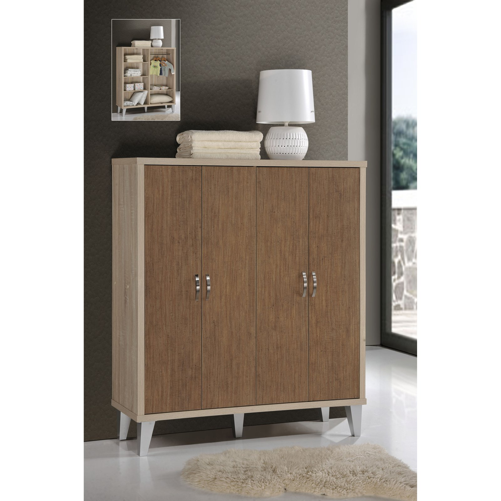 SunTime Outdoor Living Oak/Brown Childs/Guest Wardrobe