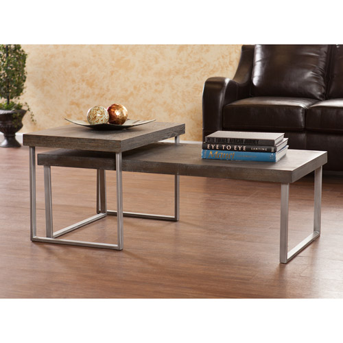 Whelan 2-Piece Nested Coffee Table, Burnt Oak