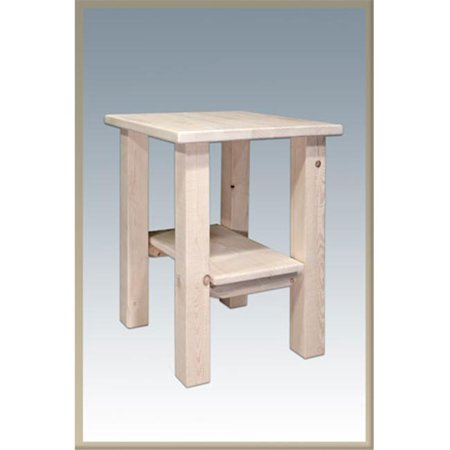 - D2D Homestead Nightstand With Shelf - Ready To Finish