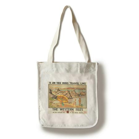 The Western Isles Vintage Poster (artist: Gilfillan) UK c. 1930 (100% Cotton Tote Bag - Reusable)