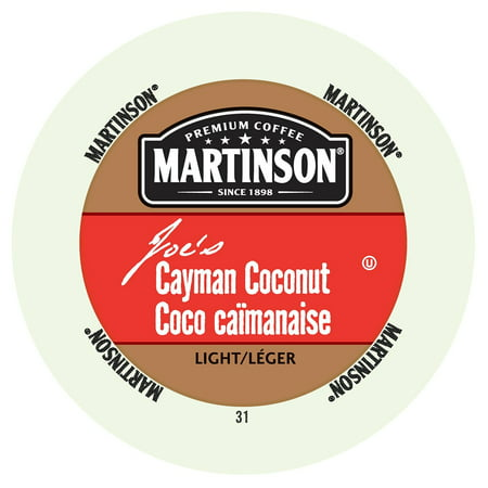Martinson Coffee Cayman Coconut, RealCup portion pack for Keurig K-Cup Brewers, 24