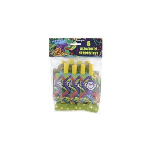 Unique Industries 28912 8 Count Jungle Smiling Safari Party Blowouts Pack of 12