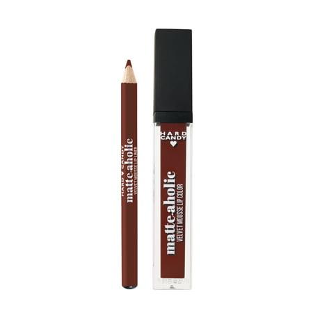 Hard Candy Matte-aholic Velvet Lipcolor & Liner 1520 Dahlia - Lip Colour Candy