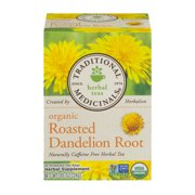 (Pack of 6) Traditional Medicinals, Organic Roasted Dandelion Root, Tea Bags, 16 Ct
