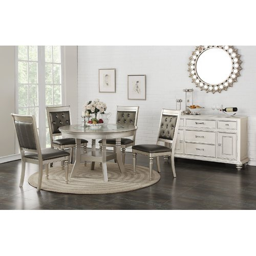 Rosdorf Park Blumer Glass 5 Piece Dining Set