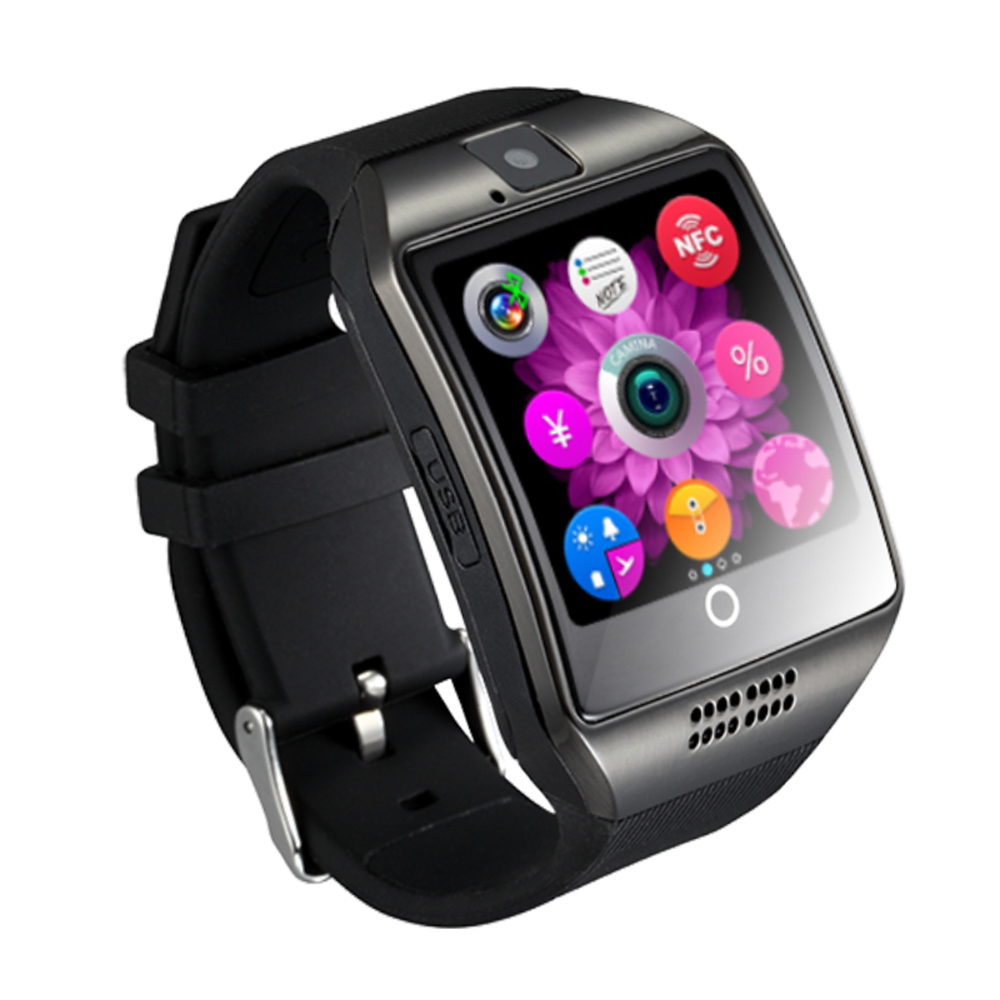 Bluetooth Smart Watch Phone GMS GPRS 1.54inch Screen for Android Black