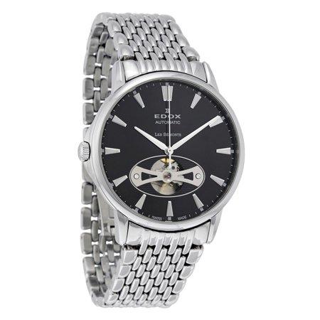 Edox - Edox Les Bemonts Automatic Black Dial Mens Watch 85021 3M NIN -  Walmart.com 6481cfa66b1